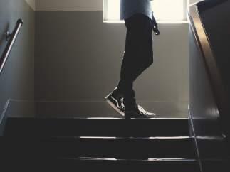 Subiendo escaleras