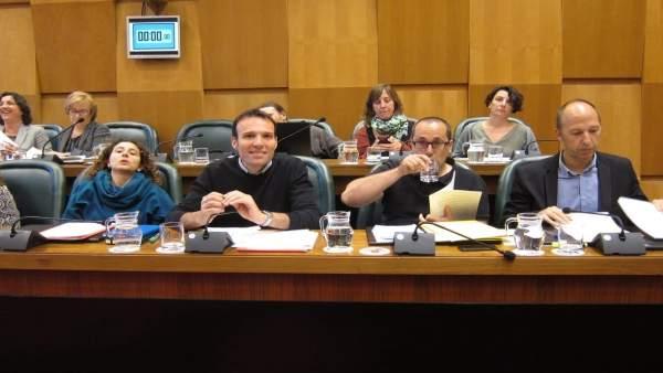 Alberto Cubero y otros concejales