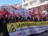 Manifestación sindical contra la precaridad y siniestralidad laboral