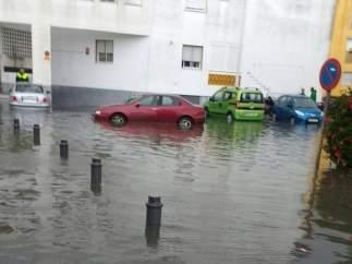 Inundaciones Punta Umbría.