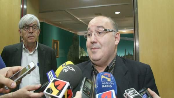 Benito Carrera y José de las Morenas en la jornada de seguridad en el trabajo.