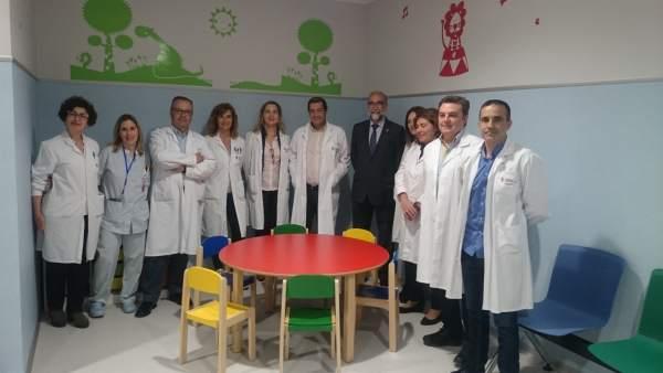 Fernando Domínguez en el área de urgencias pediátricas del hospital de Tudela