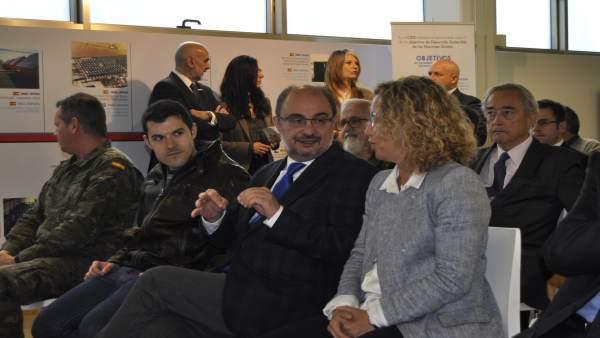 El presidente de Aragón, Javier Lambán, en la empresa ARPA.