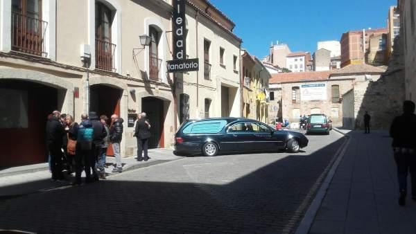 Exterior del tanatorio de Zamora