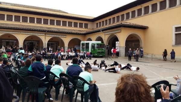 Juegos coreográficos llenan la plaza del Olivar de Palma