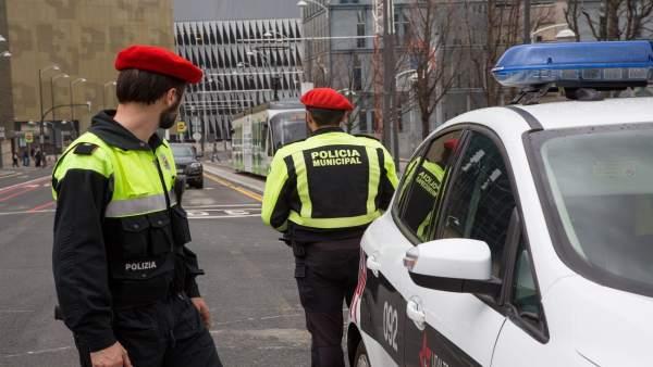 Control de la Policía Municipal de Bilbao