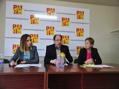 María Herrero, Julio Esteban y Berta Zapater