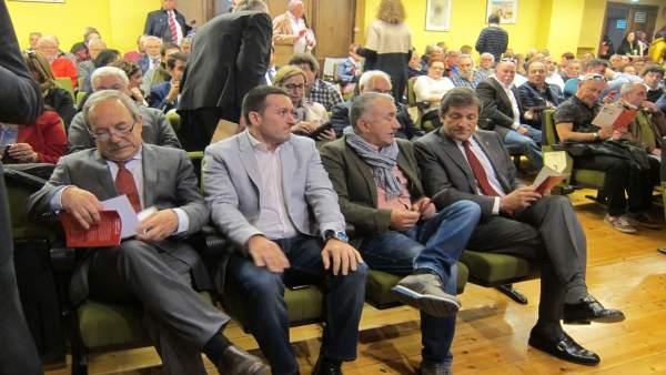 Javier Fernández, Pepe Álvarez, Javier Fernández Lanero (UGT) y Wenceslao López