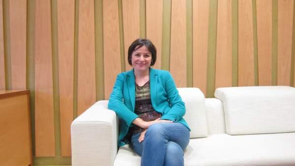 La portavoz nacional del BNG, Ana Pontón, en la entrevista