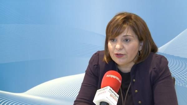 Isabel Bonig en una entrevista a Europa Press