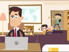 Una serie de animación basada en los niños que se colaron en directo