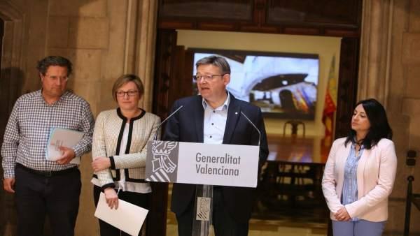 El 'president' ha ofrecido una rueda de prensa en el Palau de la Generalitat