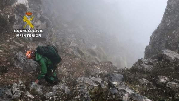 Operativo de rescate del GREIM en Picos de Europa