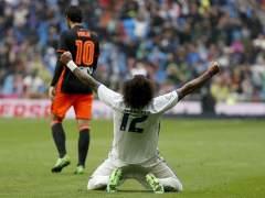 Un gol de Marcelo salva al Real Madrid ante el Valencia