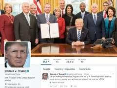 Donald Trump: cien días y 486 tuits como presidente de EE UU