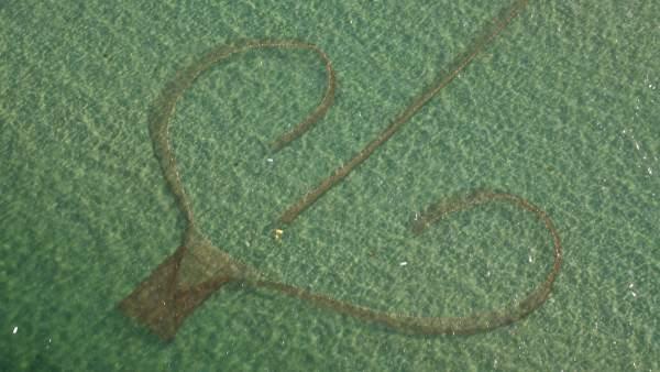Imagen de la pesca tradicional conocida como 'charamita'