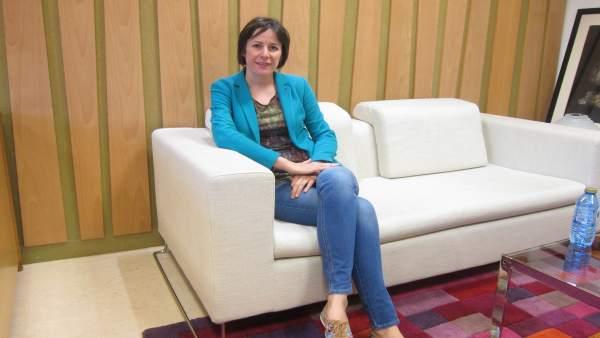 La portavoz nacional del BNG, Ana Pontón, en su despacho del Parlamento
