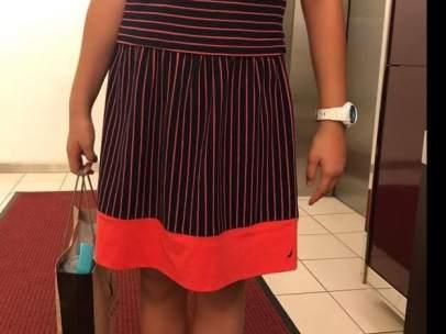 Fotografía del vestido de la niña