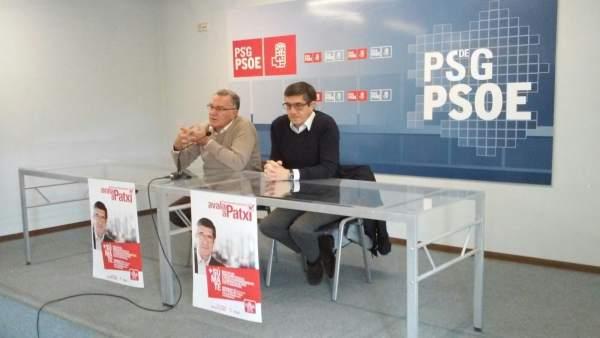 El precandidato a la Secretaría General del PSOE Patxi López en Ourense