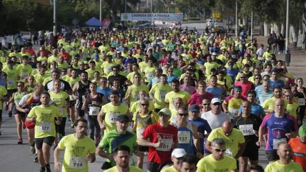Carrera prensa corredores málaga capital