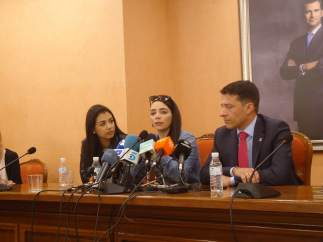 Shaza Ismail, Jimena Rico, en rueda de prensa