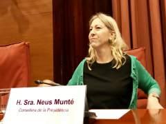 La consellera Neus Munté en el Parlament.