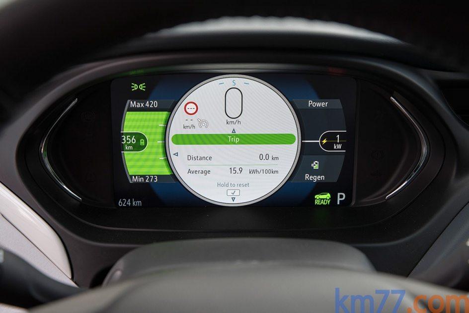 Imagen del interior del Opel