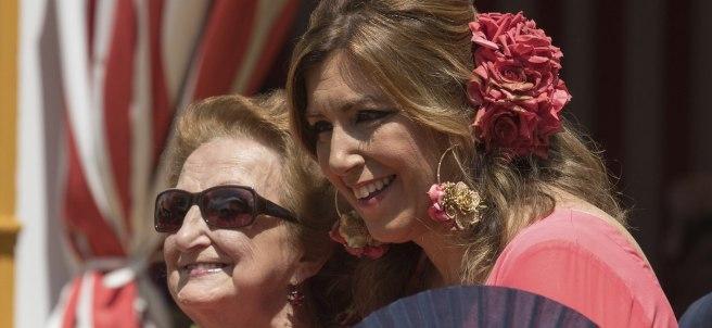 Susana Díaz, en la Feria de Abril