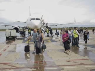 Viajeros recién aterrizados.
