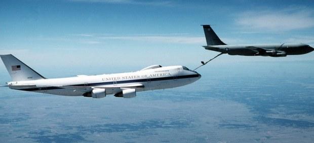 El avión que protegerá a Trump en caso de guerra nuclear
