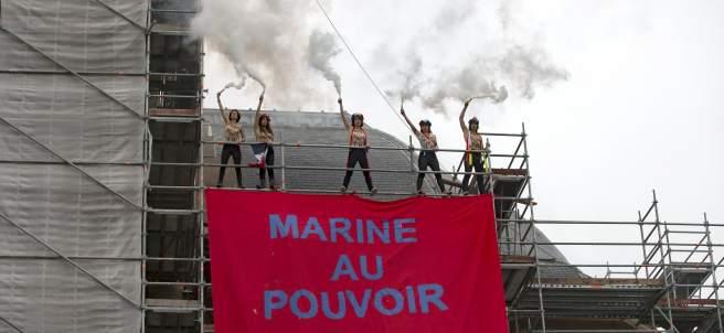 Protesta de Femen contra Le Pen