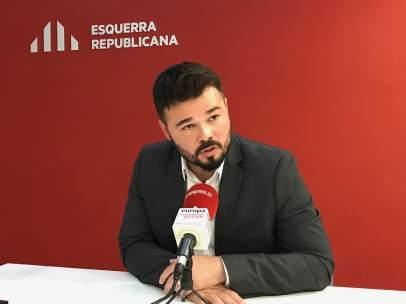 Portavoz adjunto de ERC en el Congreso, Gabriel Rufián.