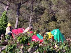 Incidente con un castillo hinchable en Girona