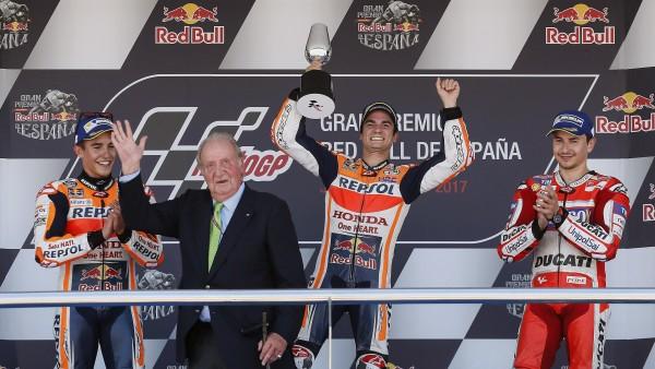 Pedrosa, Márquez, Lorenzo y el rey