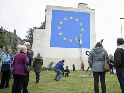 La nueva obra de Banksy sobre el 'brexit'.