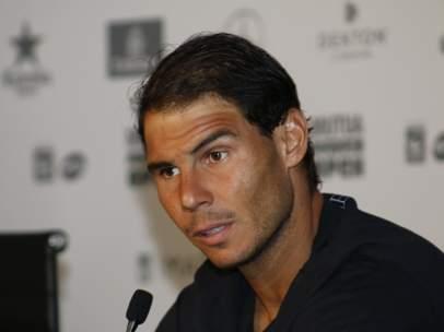 Rafa Nadal en el Mutua Madrid Open