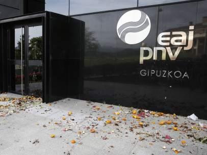 Vandalismo en la sede del PNV