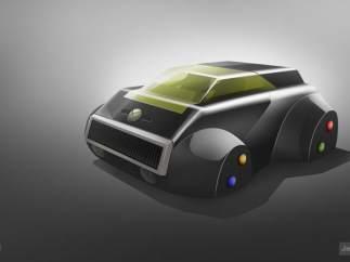 Consolas de videojuegos convertidas en coches futuristas