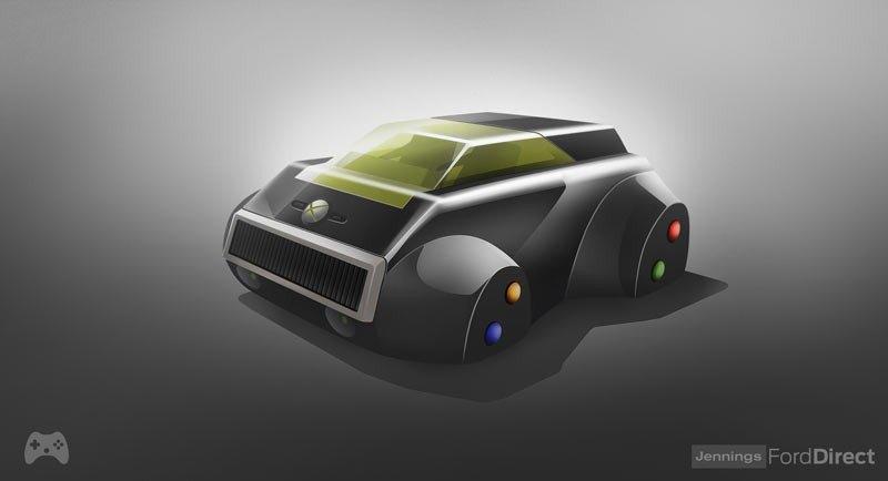XBOX 360 . Es la segunda videoconsola de sobremesa de la marca Xbox producida por Microsoft y salió al mercado entre 2005 y 2006. Sus principales novedades: un disco duro, DVD, acceso a Internet y puertos USB. Así que la versión de coche sería la de uno totalmente conectado.