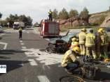 Imagen del accidente en la C-55