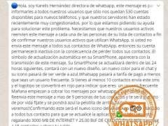 Mensaje de Karelis Hernández