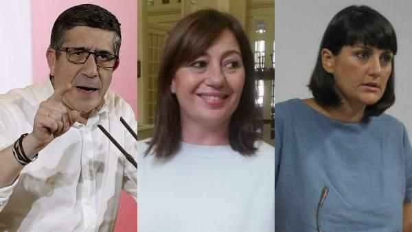 Patxi López, Francia Armengol y María González Veracruz