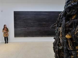 Una de las obras del aritista estadounidense Marñ Bradford, en la 57ª edición de la Bienal de Venecia