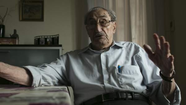 Antoni Jordà, nonagenario residente en la ciudad de Barcelona