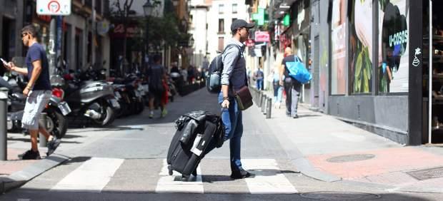Un turista en el distrito Centro