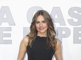 La actriz Itziar Ituño en la presentación de 'La Casa de Papel', en Madrid
