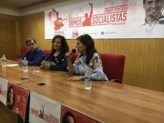 Francisco Pérez, Iratxe García y Esther Peña