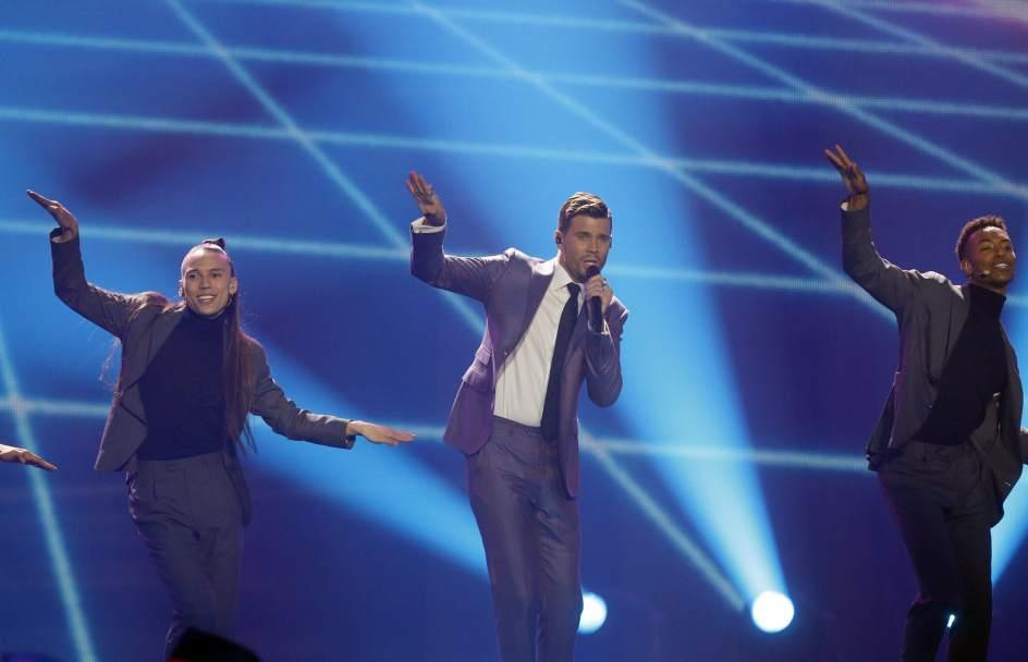 Robin Bengtsson. Robin Bengtsson, representante de Suecia en el festival de Eurovisión, cantó 'I Can´t Go On'.