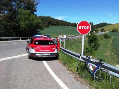 Atropello a un ciclista en Lizoain