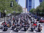 Más de 1.500 harleys, por el centro de Madrid